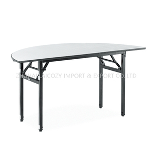 Modern White Restaurant Dining Half Round Banquet Table