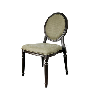 Modern Antique Round Back Wood Finished Banquet Chairs