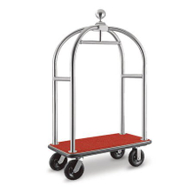 Luxury Hotel Birdcage 304 S/S Luggage Trolley for Sale