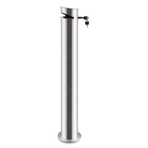 brushed 304 Stainless Steel outdoor smoker post with lock and detachable base
