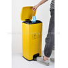 Hospital 30L Yellow Stainless Medical Waste Used Mask Pedal Dust Bin