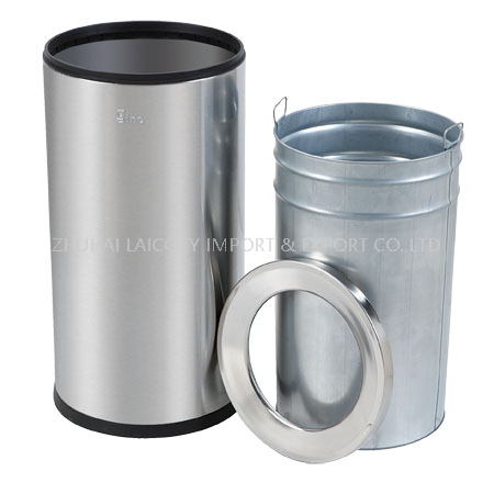 430 Stainless Steel Trash Can Ground Barrel