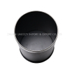 Guestroom Round Single Layer Black Dustbin for Indoor Used
