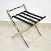 Polished Folding Stainless Steel Luggage Rack for Hotel Room