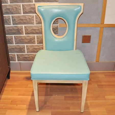 Deluxe aluminum chair for hotel with PU seat