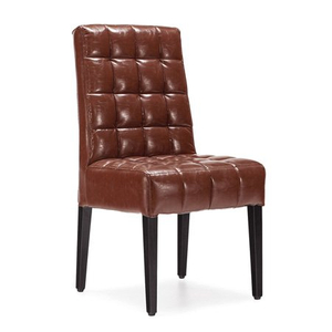 hotel Deluxe steel brown PU seat banquet chair