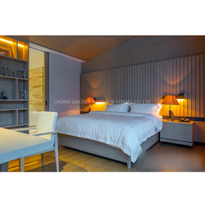 Wooden Hotel Resort Villa bedroom suit Home Furniture