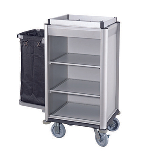 Aluminium Small Hotel Lightweight Housekeeping Maid Cart