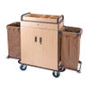 Steel Wooden Construction Hotel Housekeeping Clearning Maid Cart