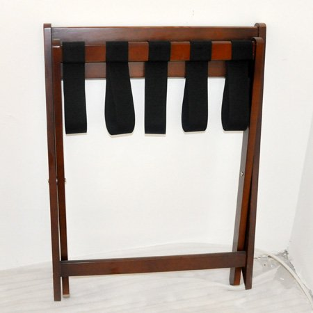 Hotel solid wood folding luggage rack for guest room