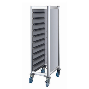 Hotel aluminum frame tray trolley with wheels