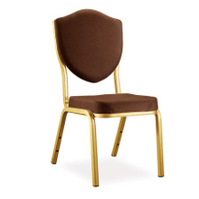 aluminium banquet chair in gold oil painting