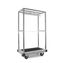Hotel heavy duty 304 stainless steel luggage trolley