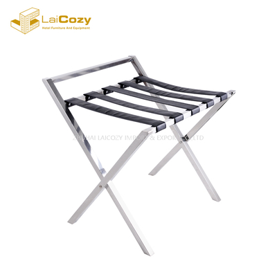 Stainless Steel lightweight Luggage Rack with handle