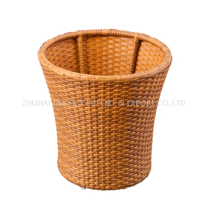 Round Towel Basket Aluminum Tube with PE Imitation Rattan Towel Kep