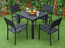 Outdoor Furniture Good QualityAluminium And WPC Table And Chairs