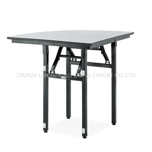 Foldable Wedding Event Dining Metal Banquet Quarter Table