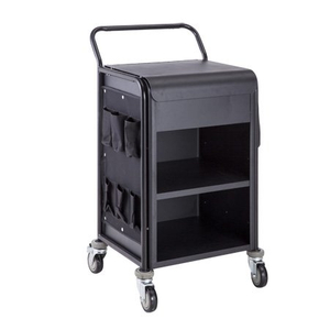 Hotel Compact Aluminum Room Service Housekeeping Maid Cart