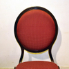 Flexible back aluminum chair for hotel and restaurant with stackable