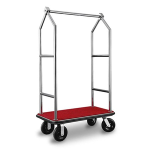 hotel supply 304 Stainless Steel Foldable Luggage Cart