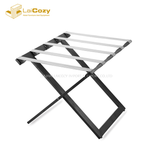 Heavy duty Hotel guestroom Foldable steel luggage stand
