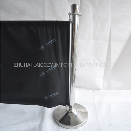 Stanchion with two hooks Crowd Control barrier Post