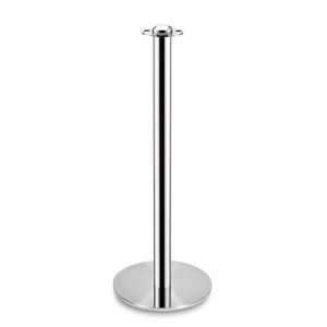 flat top gold stainless steel stanchion posts barrier
