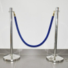 Barrier velour rope for hotel lobby with different finished hook