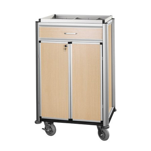 Multi-function Lockable Hotel Beverage Cart