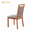 Durable Restaurant Wood Finish Square Back Dining Chairs