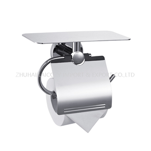Top Quality Bathroom Paper Holder with Top Tray for Cell Phone 304 S/S Roll Stand