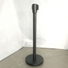 Retractable stainless steel stanchion post black color for hotel lobby