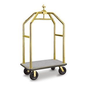 Deluxe 304 S/S Golden Hotel Luggage Cart for 5 Star Hotel