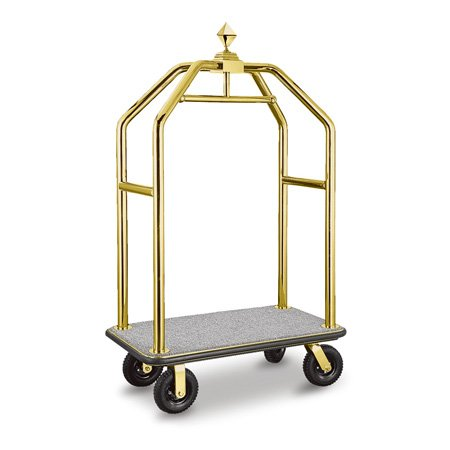 Deluxe Golden 5 star wheeled Hotel bellman Cart