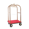 Hotel furniture Golden finish unique decorative luggage trolley