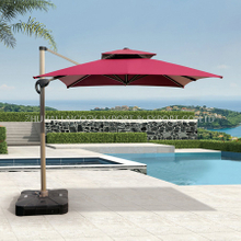 New Style Square Umbrella with Plastic Base for Swimming Pool