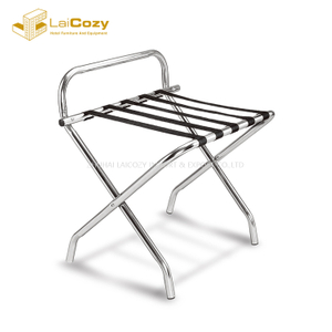 Modern Antique Style Hotel Metal Folding Luggage Rack