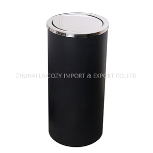 Good Quality Ground Dustbin with Swing Top Cover for Indoor Used