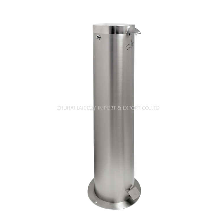 Stainless Steel Touchless Pedal Hand Soap Dispenser Stand Station