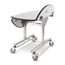 foldable room service trolley with hot box for hotel