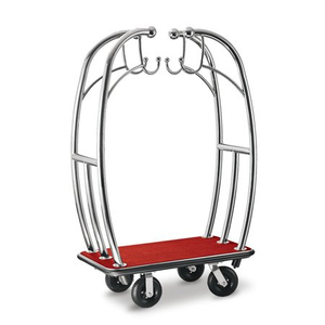 Luxury stainless steel bellman baggage carts for hotel