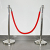 Red velour ropes with golden hooks for stanchion