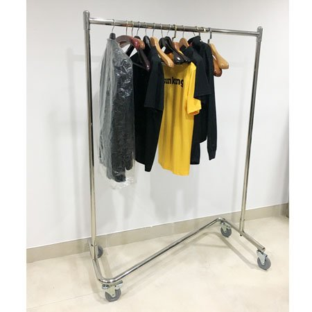 Stainless steel good quality hotel garment carts with wheels