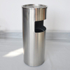 Hotel lobby stainless steel indoor round dustbins