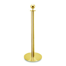 ball top titanium gold stainless steel stanchion posts with casting base