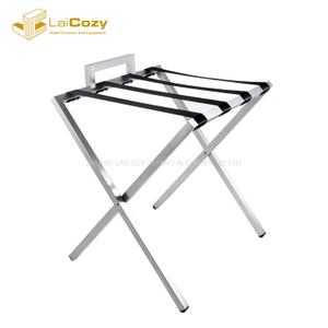Strong Five star hotel Foldable unique luggage Stand