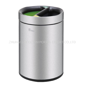 Stainless steel guestroom small indoor dustbins10L