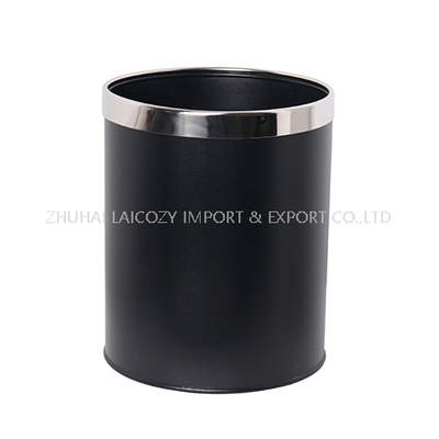 Hotel guestroom black small indoor dustbins