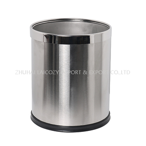 Hotel stainless steel guestroom round dustbin