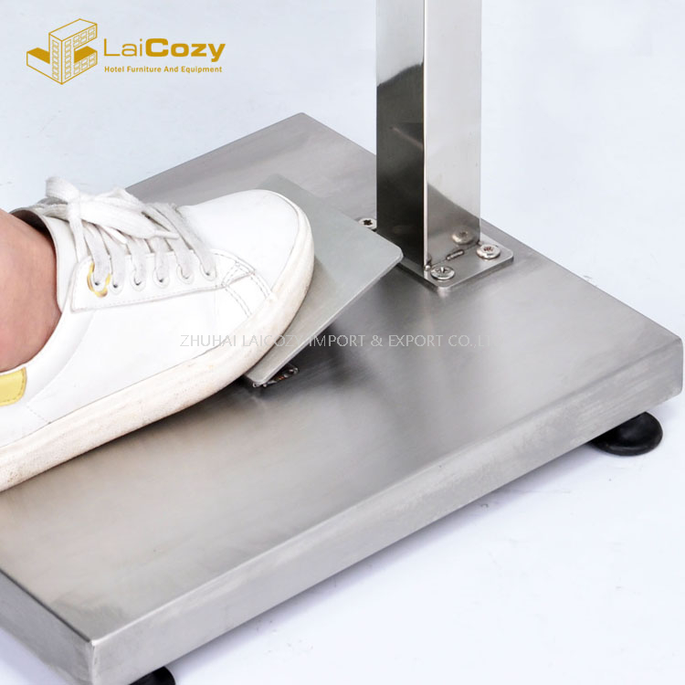 Stainless Steel Foot Pedal Hand Sanitizer Dispenser Stand